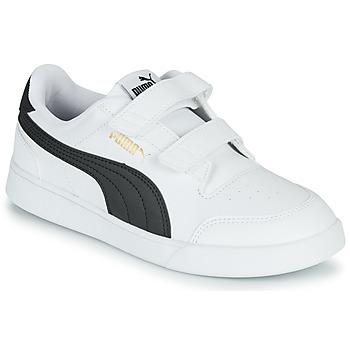 鞋子 儿童 球鞋基本款 Puma 彪马 SHUFFLE PS 白色 / 黑色