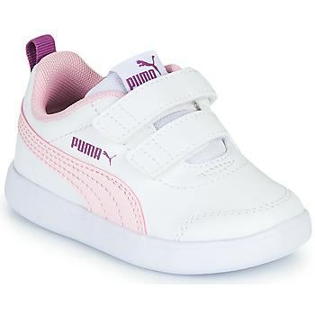 鞋子 女孩 球鞋基本款 Puma 彪马 COURTFLEX INF 白色 / 玫瑰色