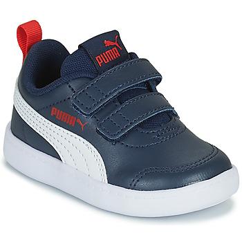 鞋子 儿童 球鞋基本款 Puma 彪马 COURTFLEX INF 黑色