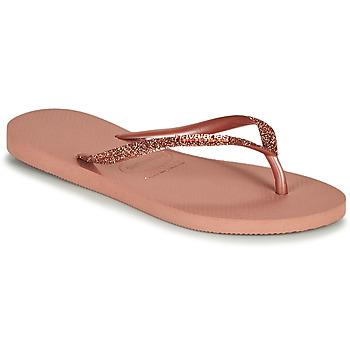 鞋子 女士 人字拖 Havaianas 哈瓦那 SLIM GLITTER II 玫瑰色