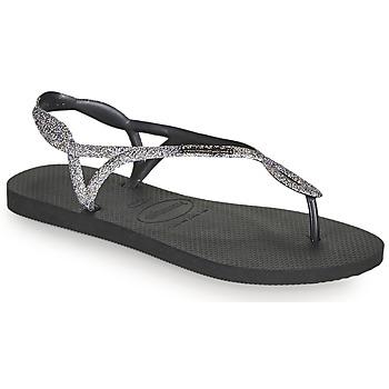 鞋子 女士 人字拖 Havaianas 哈瓦那 LUNA PREMIUM II 黑色 / 灰色