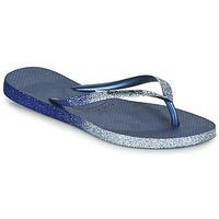 鞋子 女士 人字拖 Havaianas 哈瓦那 SLIM SPARKLE II 海蓝色