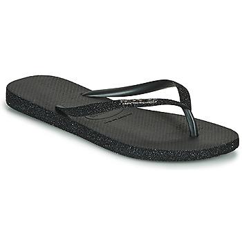 鞋子 女士 人字拖 Havaianas 哈瓦那 SLIM SPARKLE II 黑色