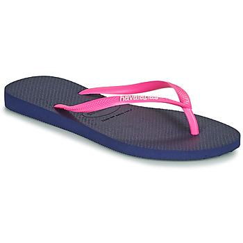 鞋子 女士 人字拖 Havaianas 哈瓦那 SLIM LOGO 海蓝色