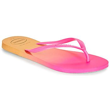 鞋子 女士 人字拖 Havaianas 哈瓦那 SLIM GRADIENT 玫瑰色 / 黄色