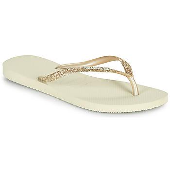 鞋子 女士 人字拖 Havaianas 哈瓦那 SLIM GLITTER II 米色