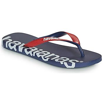 鞋子 人字拖 Havaianas 哈瓦那 TOP LOGOMANIA HIGHTECH 蓝色