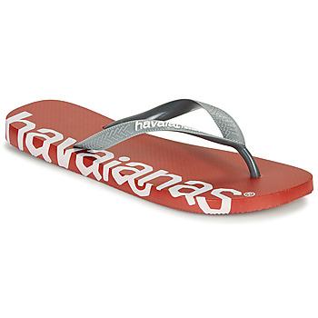 鞋子 人字拖 Havaianas 哈瓦那 TOP LOGOMANIA HIGHTECH 红色