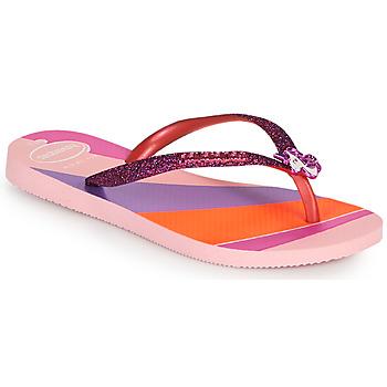鞋子 女孩 人字拖 Havaianas 哈瓦那 KIDS SLIM GLITTER II 玫瑰色