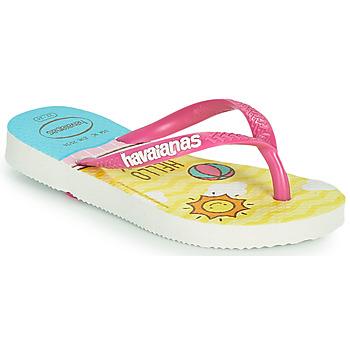鞋子 女孩 人字拖 Havaianas 哈瓦那 KIDS SLIM HELLO KITTY 白色