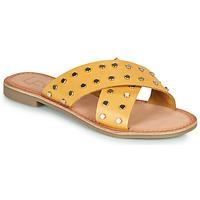 鞋子 女士 休闲凉拖/沙滩鞋 Les P'tites Bombes BELMA 黄色