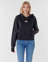 衣服 女士 卫衣 Vans 范斯 WM OVAL TEEN HOODIE 黑色