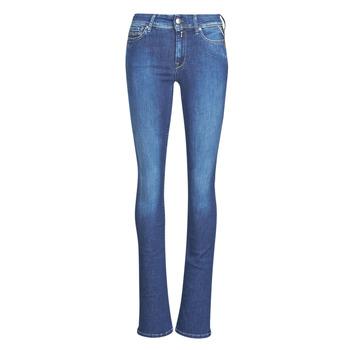 衣服 女士 喇叭牛仔裤 Replay LUZ Super / Ight / 蓝色