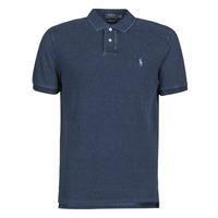 衣服 男士 短袖保罗衫 Polo Ralph Lauren POLO AJUSTE DROIT EN COTON BASIC 蓝色