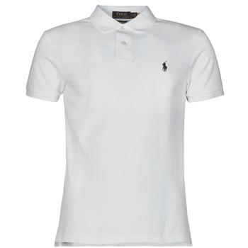 衣服 男士 短袖保罗衫 Polo Ralph Lauren POLO CINTRE SLIM FIT EN COTON BASIC MESH LOGO PONY PLAYER 白色