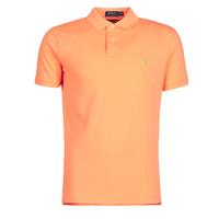 衣服 男士 短袖保罗衫 Polo Ralph Lauren POLO AJUSTE DROIT EN COTON BASIC MESH LOGO PONY PLAYER 橙色
