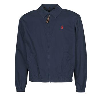 衣服 男士 夹克 Polo Ralph Lauren BLOUSON BAYPORT EN COTON LEGER LOGO PONY PLAYER 蓝色