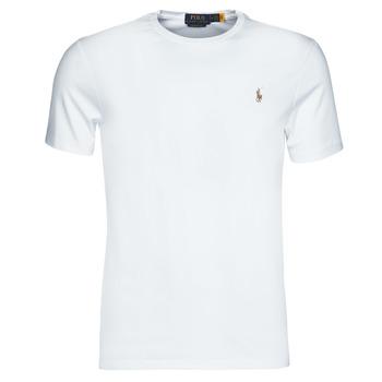 衣服 男士 短袖体恤 Polo Ralph Lauren T-SHIRT AJUSTE COL ROND EN PIMA COTON LOGO PONY PLAYER MULTICOLO 白色