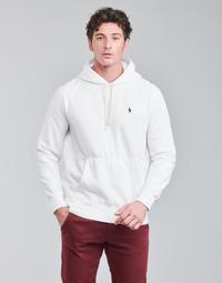 衣服 男士 卫衣 Polo Ralph Lauren SWEAT A CAPUCHE MOLTONE EN COTON LOGO PONY PLAYER 白色