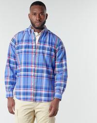 衣服 男士 长袖衬衫 Polo Ralph Lauren CHEMISE AJUSTEE EN OXFORD COL BOUTONNE  LOGO PONY PLAYER MULTICO 多彩