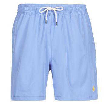 衣服 男士 男士泳裤 Polo Ralph Lauren MAILLOT SHORT DE BAIN EN NYLON RECYCLE, CORDON DE SERRAGE ET POC 蓝色