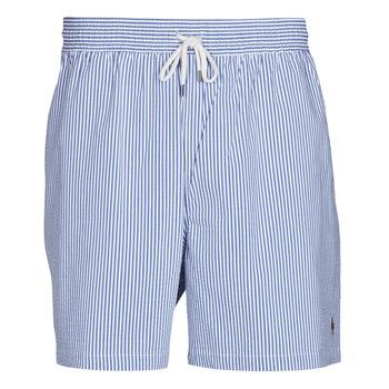 衣服 男士 男士泳裤 Polo Ralph Lauren MAILLOT SHORT DE BAIN RAYE SEERSUCKER CORDON DE SERRAGE ET POCHE 蓝色