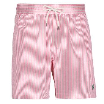 衣服 男士 男士泳裤 Polo Ralph Lauren MAILLOT SHORT DE BAIN RAYE SEERSUCKER CORDON DE SERRAGE ET POCHE 红色 / 白色