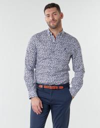 衣服 男士 长袖衬衫 Polo Ralph Lauren CHEMISE CINTREE SLIM FIT EN POPLINE DE COTON COL BOUTONNE LOGO P 蓝色
