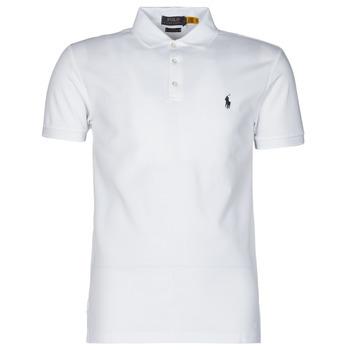 衣服 男士 短袖保罗衫 Polo Ralph Lauren POLO CINTRE SLIM FIT EN COTON STRETCH MESH LOGO PONY PLAYER 白色