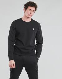 衣服 男士 卫衣 Polo Ralph Lauren SWEATSHIRT COL ROND EN JOGGING DOUBLE KNIT TECH LOGO PONY PLAYER 黑色