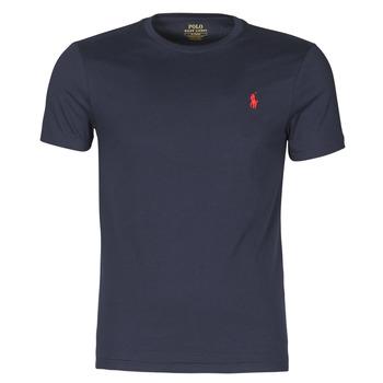 衣服 男士 短袖体恤 Polo Ralph Lauren T-SHIRT AJUSTE COL ROND EN COTON LOGO PONY PLAYER 海蓝色