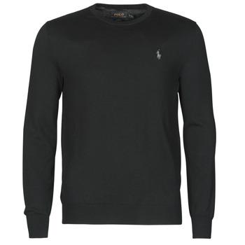 衣服 男士 羊毛衫 Polo Ralph Lauren PULL COL ROND AJUSTE EN COTON PIMA LOGO PONY PLAYER 黑色