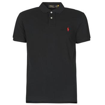 衣服 男士 短袖保罗衫 Polo Ralph Lauren POLO AJUSTE DROIT EN COTON BASIC MESH LOGO PONY PLAYER 黑色