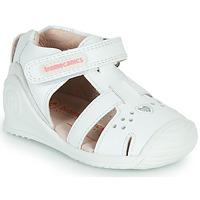 鞋子 女孩 凉鞋 Biomecanics 212104 白色 / 银灰色