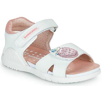 鞋子 女孩 凉鞋 Biomecanics 212163 白色 / 玫瑰色