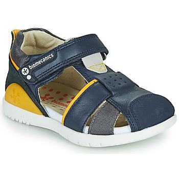 鞋子 男孩 凉鞋 Biomecanics 212187 海蓝色 / 黄色