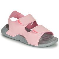 鞋子 女孩 凉鞋 adidas Performance 阿迪达斯运动训练 SWIM SANDAL C 玫瑰色