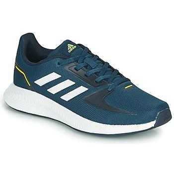 鞋子 儿童 跑鞋 adidas Performance 阿迪达斯运动训练 RUNFALCON 2.0 K 海蓝色 / 白色