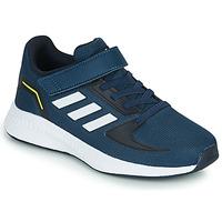 鞋子 男孩 球鞋基本款 adidas Performance 阿迪达斯运动训练 RUNFALCON 2.0 C 海蓝色 / 白色