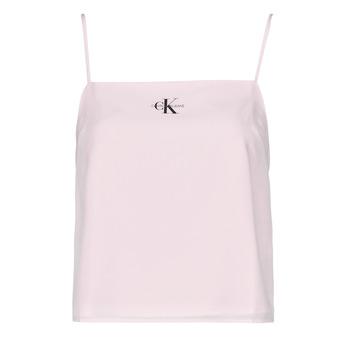 衣服 女士 女士上衣/罩衫 Calvin Klein Jeans MONOGRAM CAMI TOP 玫瑰色