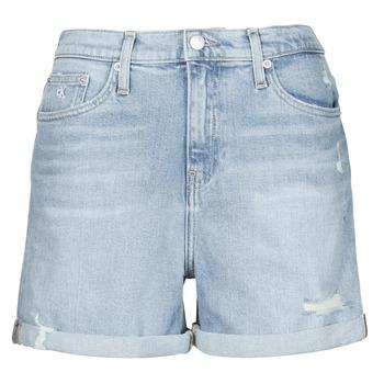 衣服 女士 短裤&百慕大短裤 Calvin Klein Jeans MOM SHORT 蓝色 / 米色