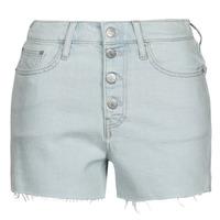 衣服 女士 短裤&百慕大短裤 Calvin Klein Jeans HIGH RISE SHORT 蓝色 / 米色