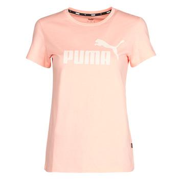衣服 女士 短袖体恤 Puma 彪马 ESS Logo Tee (s) 杏色