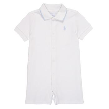 衣服 男孩 连体衣/连体裤 Polo Ralph Lauren TONNY 白色