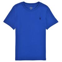 衣服 男孩 短袖体恤 Polo Ralph Lauren ELIVA 蓝色 / 蓝宝石色