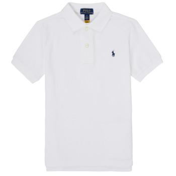 衣服 男孩 短袖保罗衫 Polo Ralph Lauren MENCHI 白色