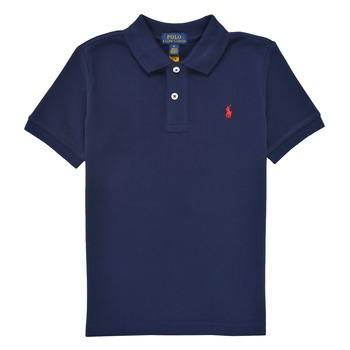 衣服 男孩 短袖保罗衫 Polo Ralph Lauren MENCHI 海蓝色