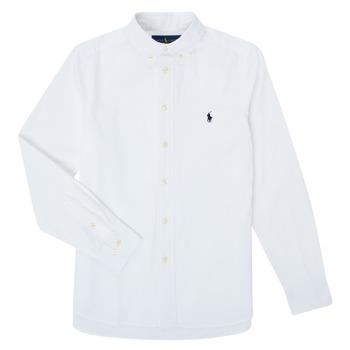 衣服 男孩 长袖衬衫 Polo Ralph Lauren TOUNIA 白色