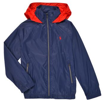衣服 男孩 夹克 Polo Ralph Lauren AMINA 海蓝色
