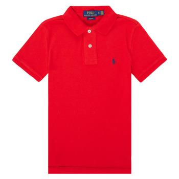 衣服 男孩 短袖保罗衫 Polo Ralph Lauren FRANCHI 红色